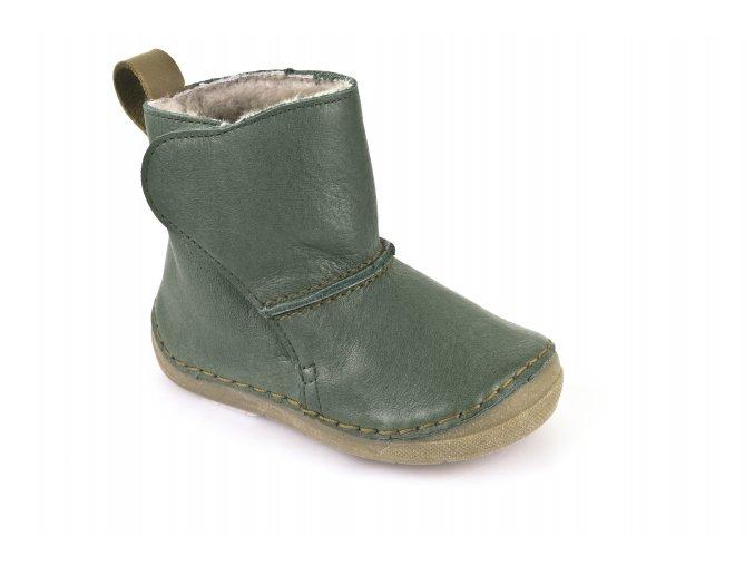 Boots Dark Green, 100% wool