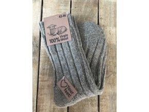 100% Vlnené ponožky - brown (Veľkosť 43 - 46)