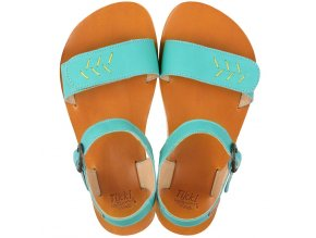 funky vibe barefoot women s sandals golden turquoise 16024 4