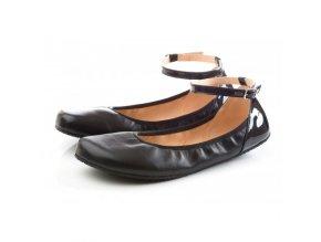 TULIP II Black barefoot ballerinas Wide