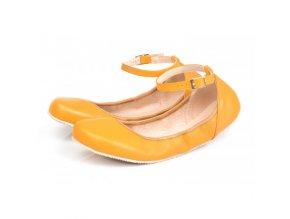 TULIP II Sun Yellow barefoot ballerinas, Wide