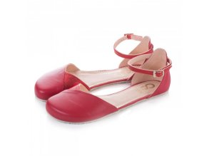 Barefoot sandals POPPY II Cherry, Normal