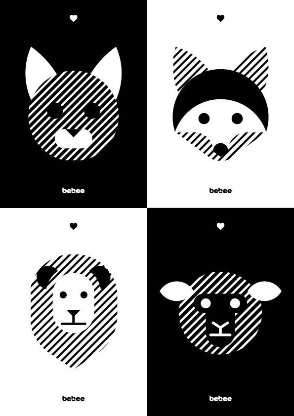 Kontrastné kartičky pre bábätká