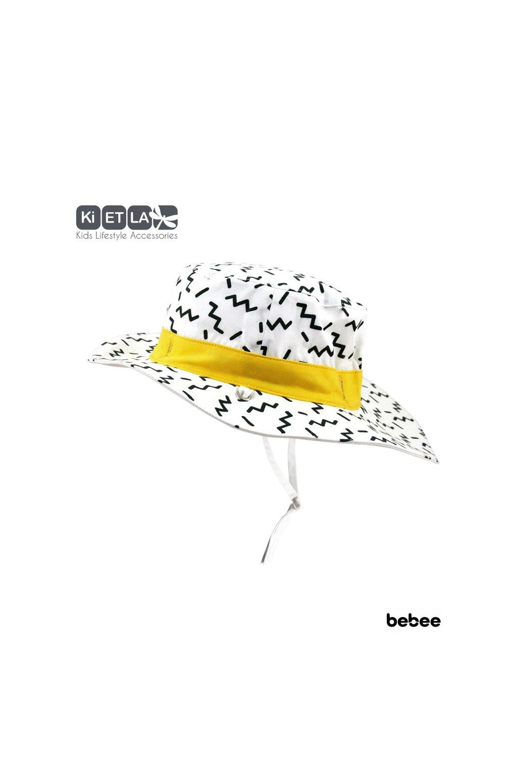 Obojstranný klobúčik s UV ochranou 45-47cm - zig-zag | KiETLA