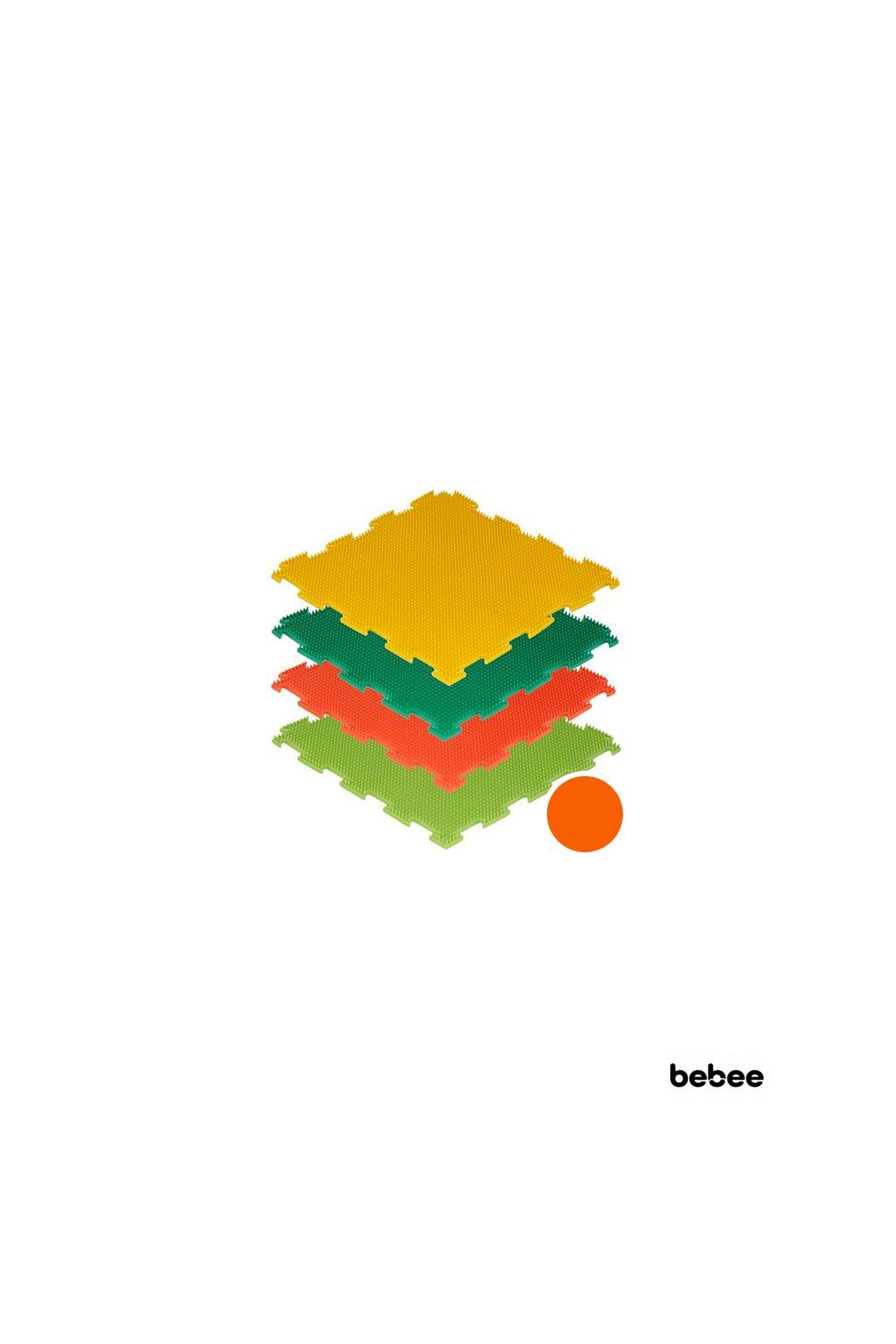 masazne koberceky trava makke oranzove