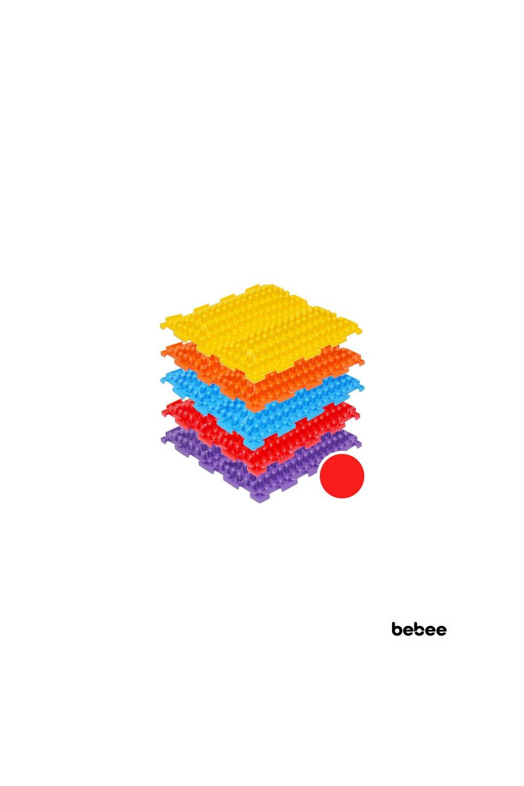 masazne koberceky novavlna tvrde cervena