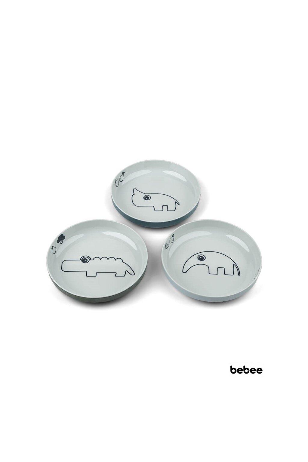 Yummy mini tanier Deer friends 3ks modrý | Done by Deer