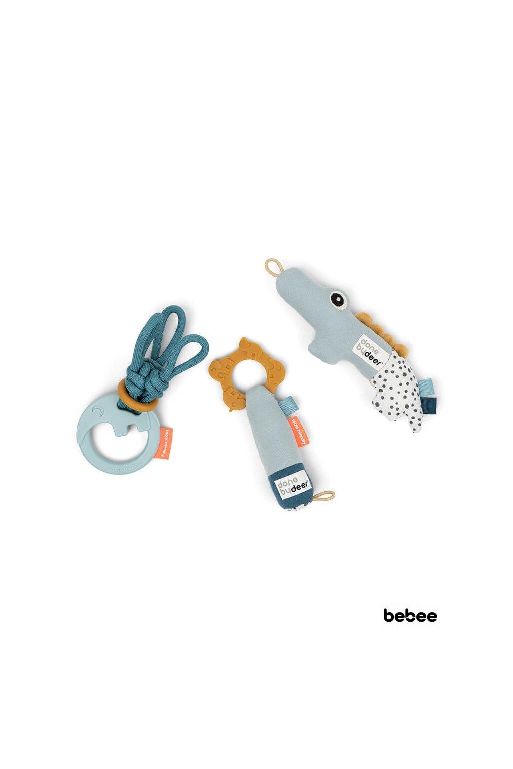 Tiny aktívne hračky - darčekový set modrý | Done by Deer