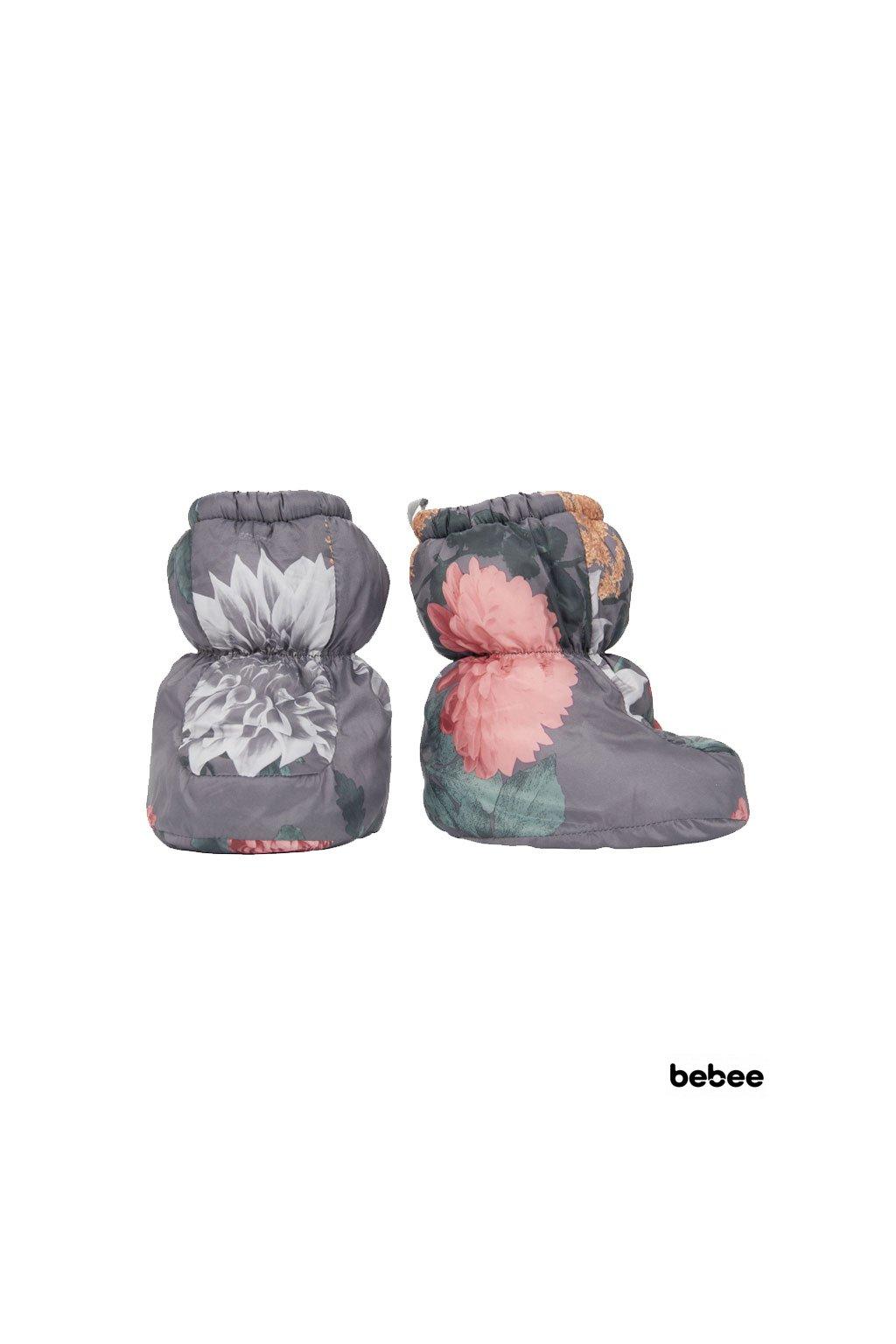 zimne capacky socker polyester print peony lodger 1