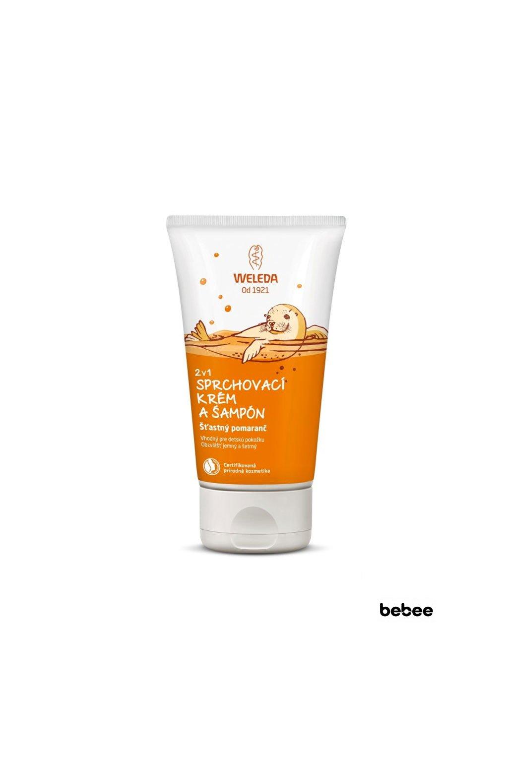 WELEDA 2v1 sprchovaci krem sampon stastny pomaranc 150ml