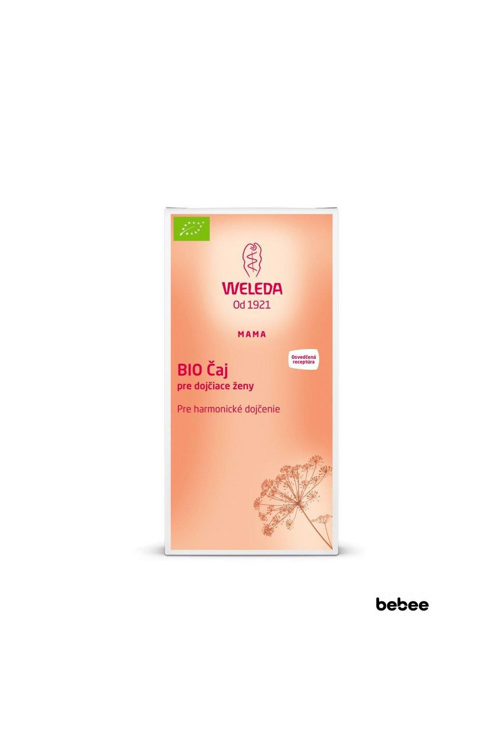 caj na podporu dojcenia BIO porcovany 40g Weleda