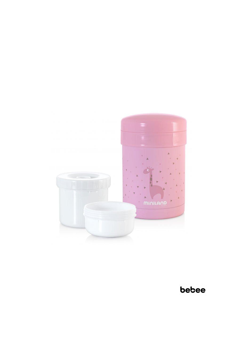 Termoska thermic a kelimky na jedlo Pink 700ml Miniland
