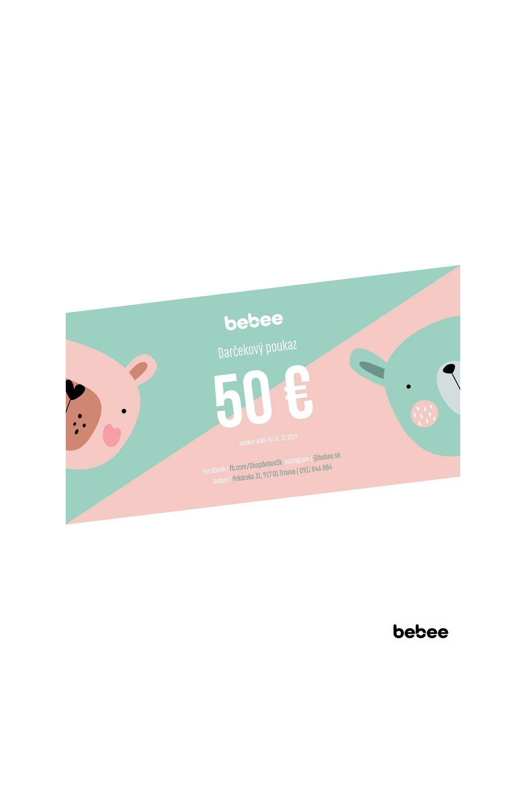 darcekovy poukaz bebee 50e