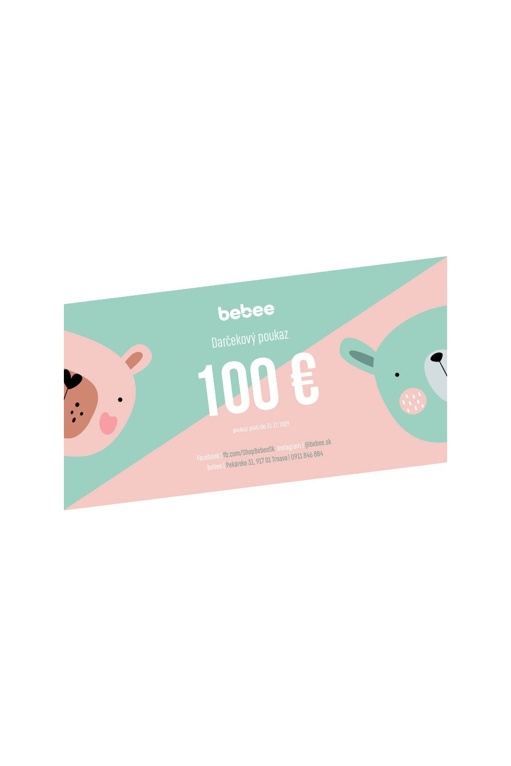 darcekovy poukaz bebee 100e