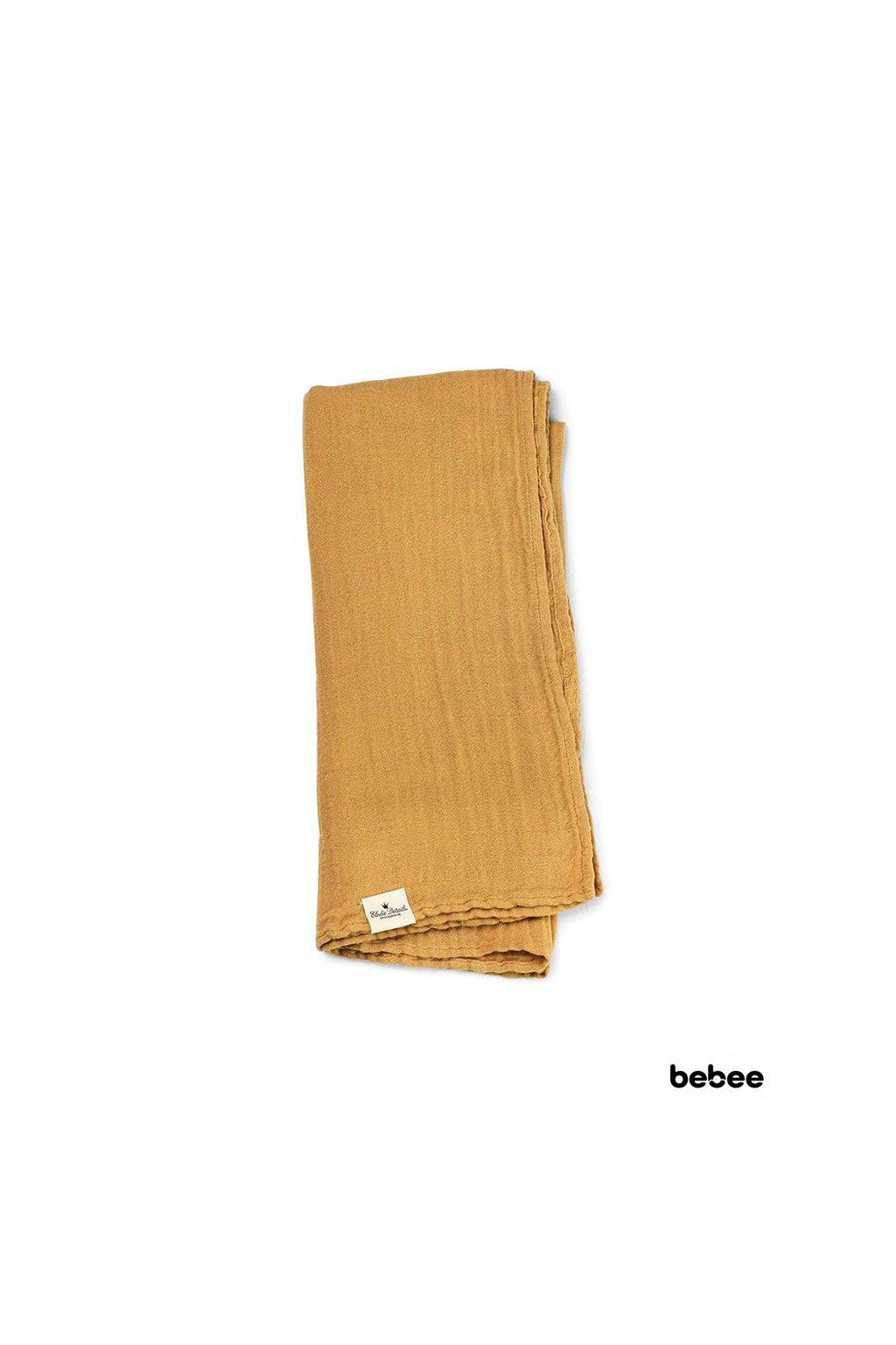 Deka z bambusového mušelínu Gold   Elodie Details