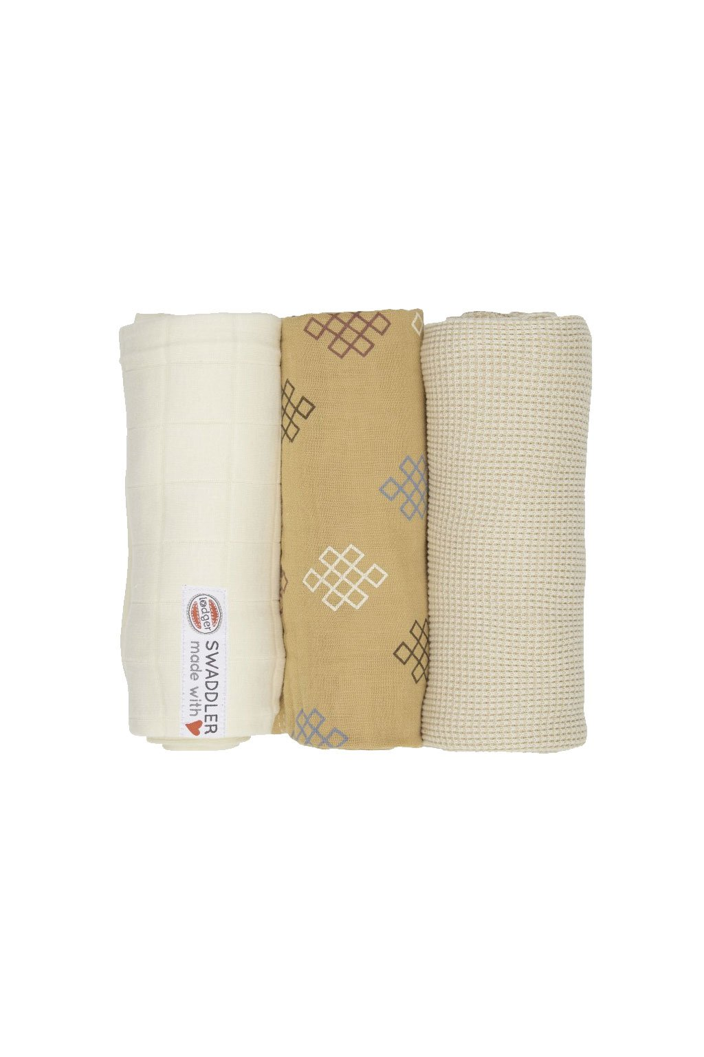 multifunkcna osuska swaddler empire knot 3 ks 70 x 70 cm ivory lodger