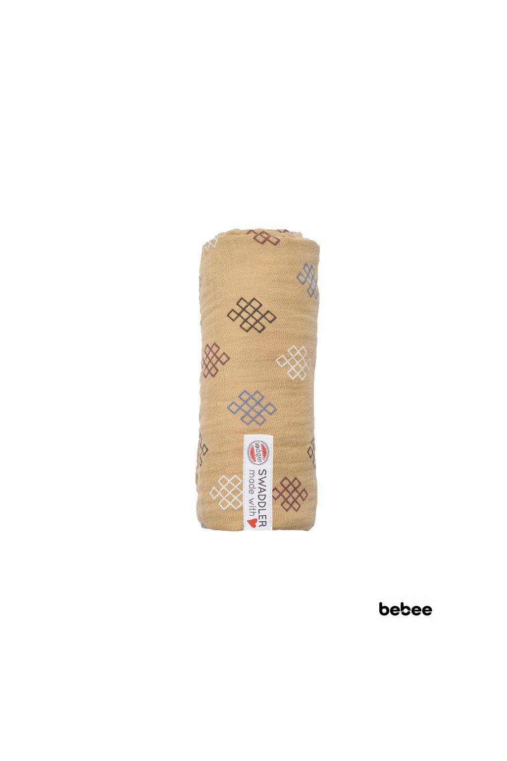 multifunkcna osuska swaddler muslin knot xandu 120 x 120 cm honey lodger