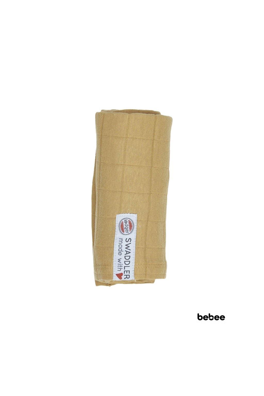 multifunkcna osuska swaddler solid 70 x 70 cm honey lodger