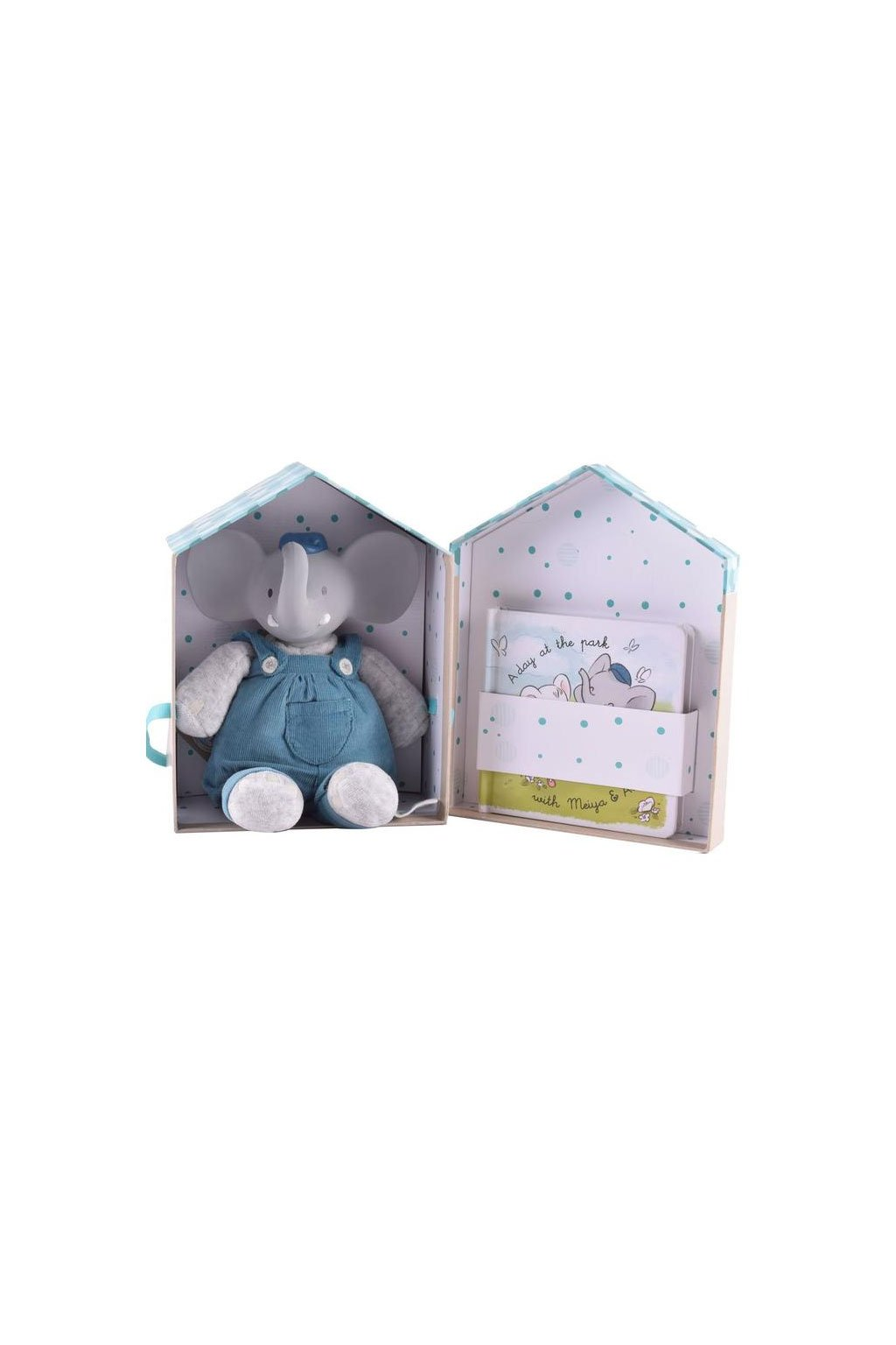 Darcekovy set DELUXE knizka hracka slonik alvin Meiya&Alvin