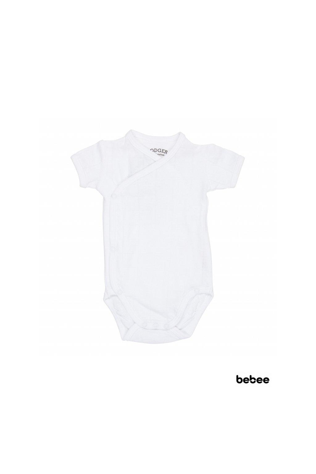 Romper Solid Short Sleeves White vel. 68 | Lodger