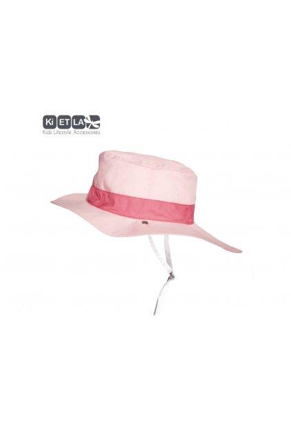 Obojstranný klobúčik s UV ochranou 47-49cm - panama pink | KiETLA