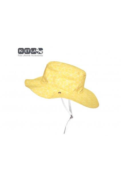 Obojstranný klobúčik s UV ochranou 47-49cm - cubic sun | KiETLA