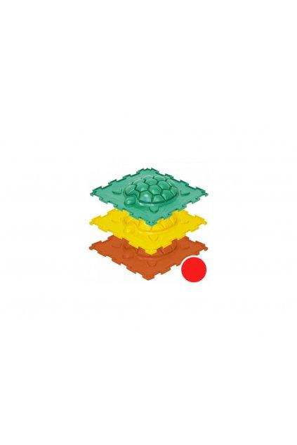 masazne koberceky korytnacka tvrde cervena