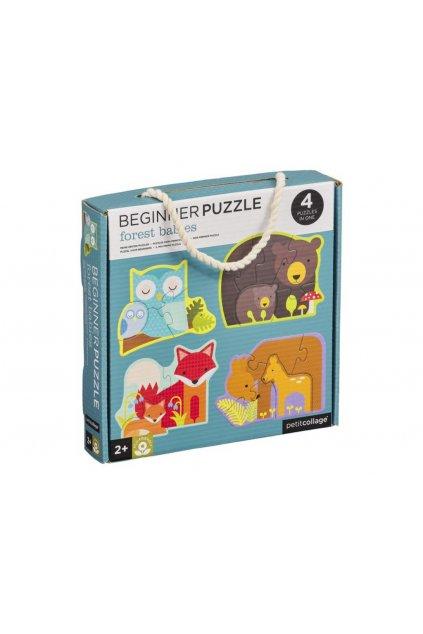 Prvé puzzle lesné zvieratká | Petitcollage