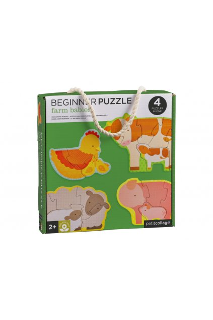 Prvé puzzle zvieratká z farmy | Petitcollage