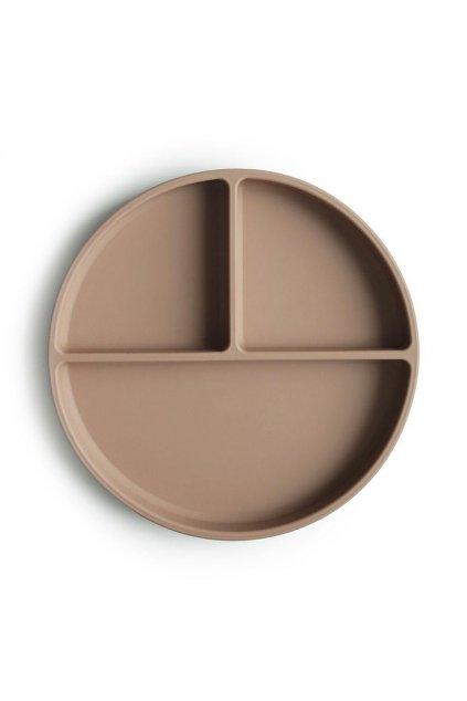 Silikónový tanier s prísavkou natural | MUSHIE