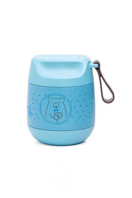MFL Bear termoska na prikrmy modra Suavinex