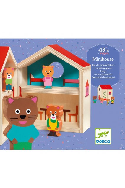 newdj 6673 minihouse mini roztvaraci dreveny domcek s figurkami 4