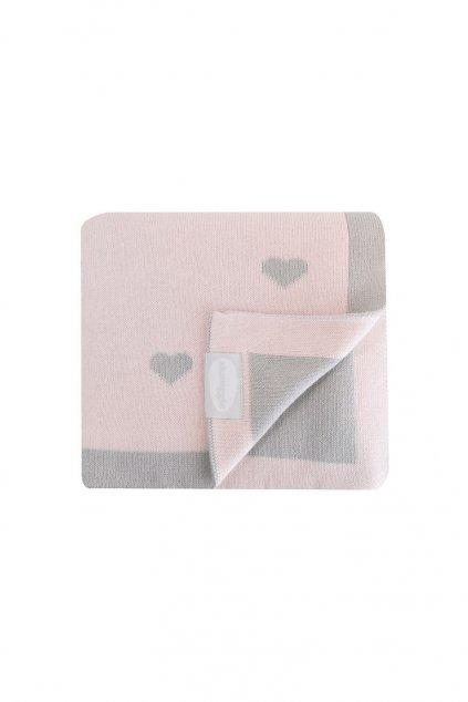 Luxusna pletena deka ruzova Shnuggle