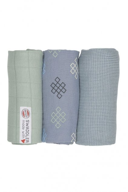 multifunkcna osuska swaddler empire knot 3 ks 70 x 70 cm eau blu lodger