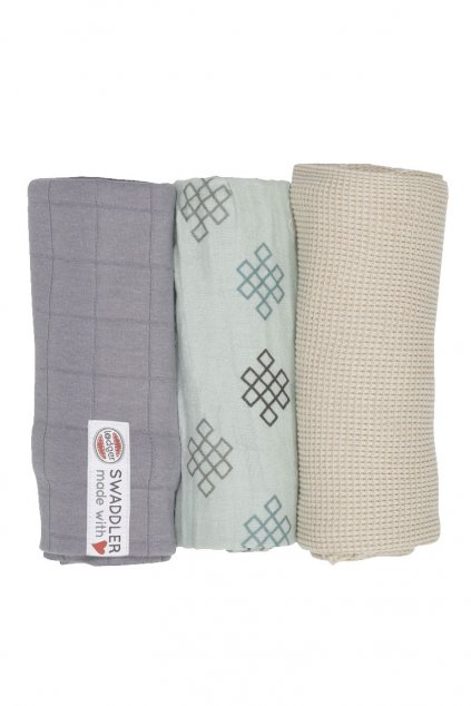 multifunkcna osuska swaddler empire knot 3 ks 70 x 70 cm silt green lodger