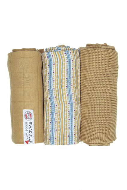 multifunkcna osuska swaddler empire stripe 3 ks 70 x 70 cm honey lodger