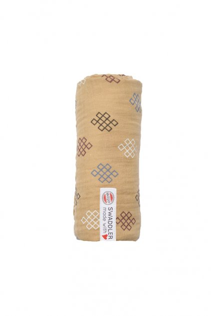 multifunkcna osuska swaddler muslin knot xandu 120 x 120 cm honey lodger