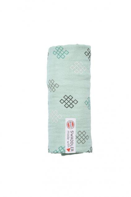 multifunkcna osuska swaddler muslin knot xandu 120 x 120 cm silt green lodger