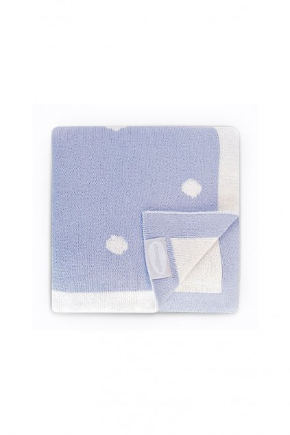 Luxusna pletena deka modra Shnuggle