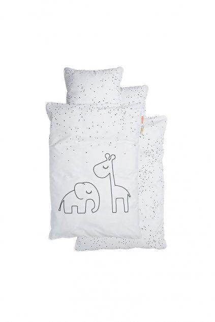 navliecky dreamy dots junior biele done by deer