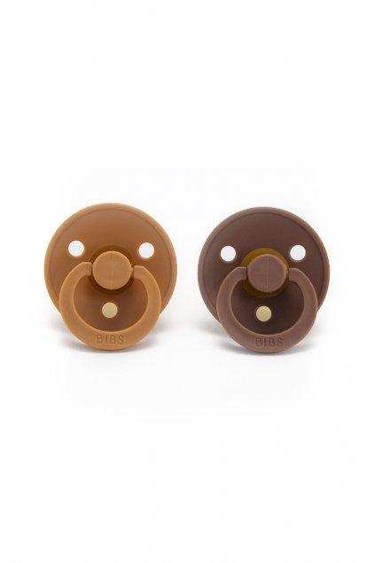 Cumlíky z prírodného kaučuku 2ks - veľkosť 2 Peach/Woodchuck | BIBS