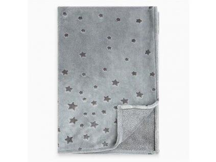 Dětská Fleecová deka Weekend hvězdy šedá