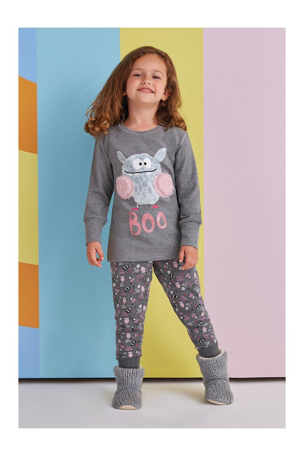 Dívčí pyžamo šedé Boo