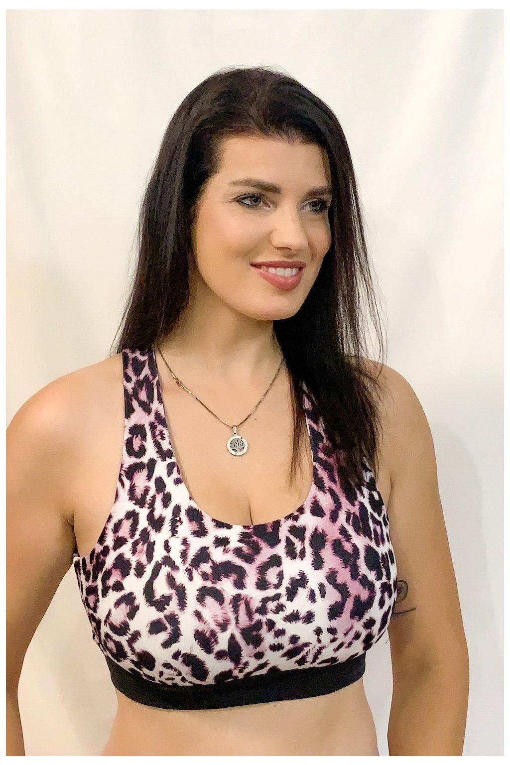 Sportovní podprsenka - leopard
