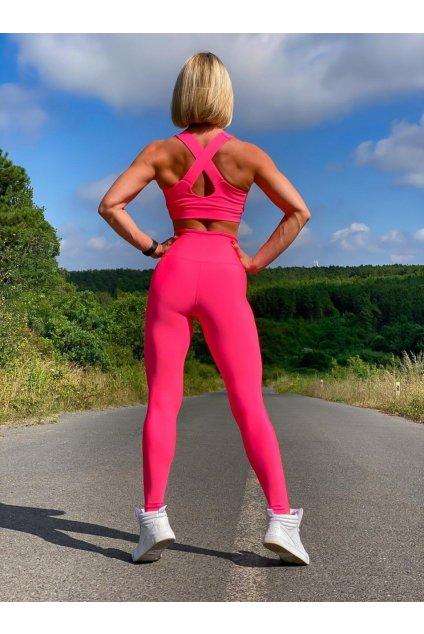 Sportovní podprsenka - neon růžová