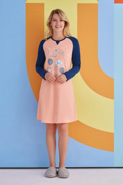 Dámská košilka oranžovo - modrá
