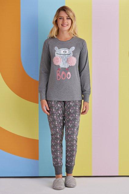 Dámské pyžamo šedé Boo