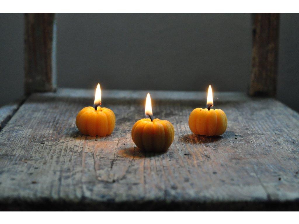 Svíčka z včelího vosku – dýně