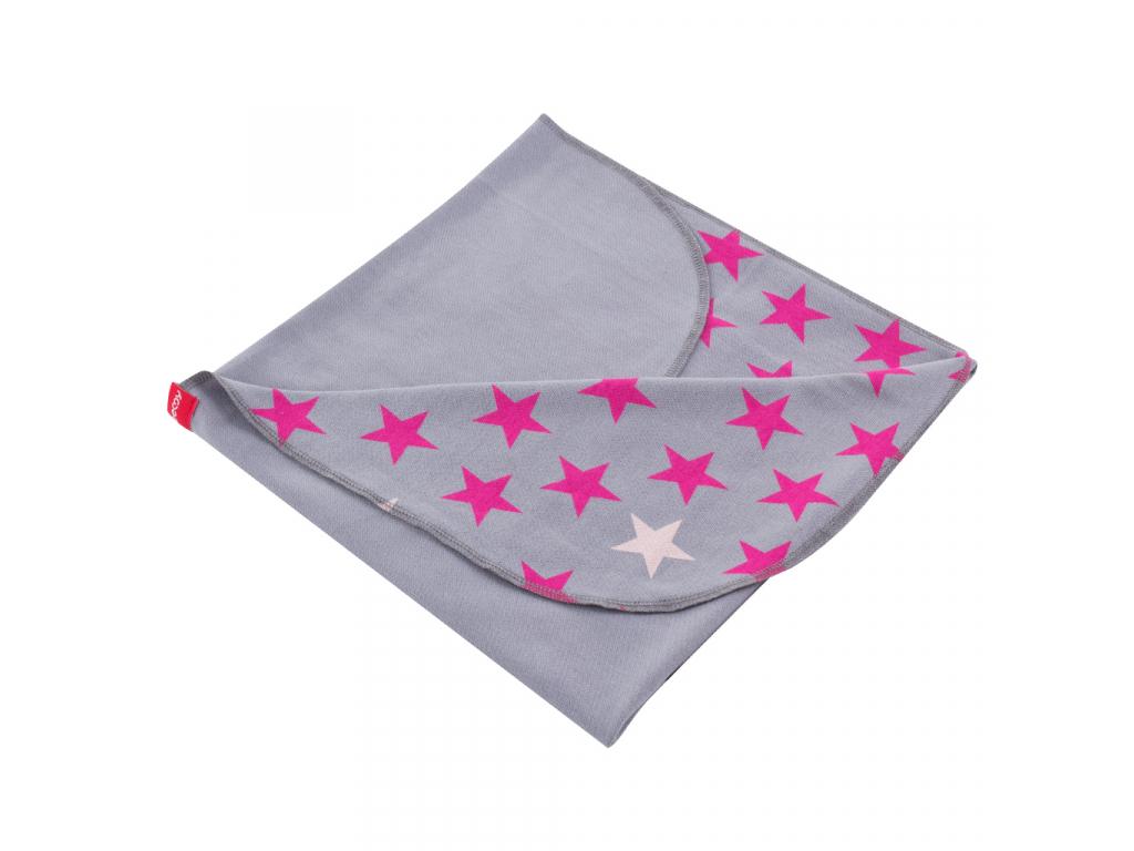 Letní deka STARS GREY PINK