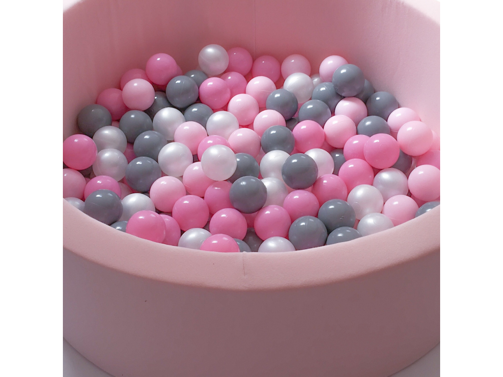 Suchý bazén pro děti PINK + míčky PINK/GREY